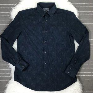 Vince paisley button down shirt